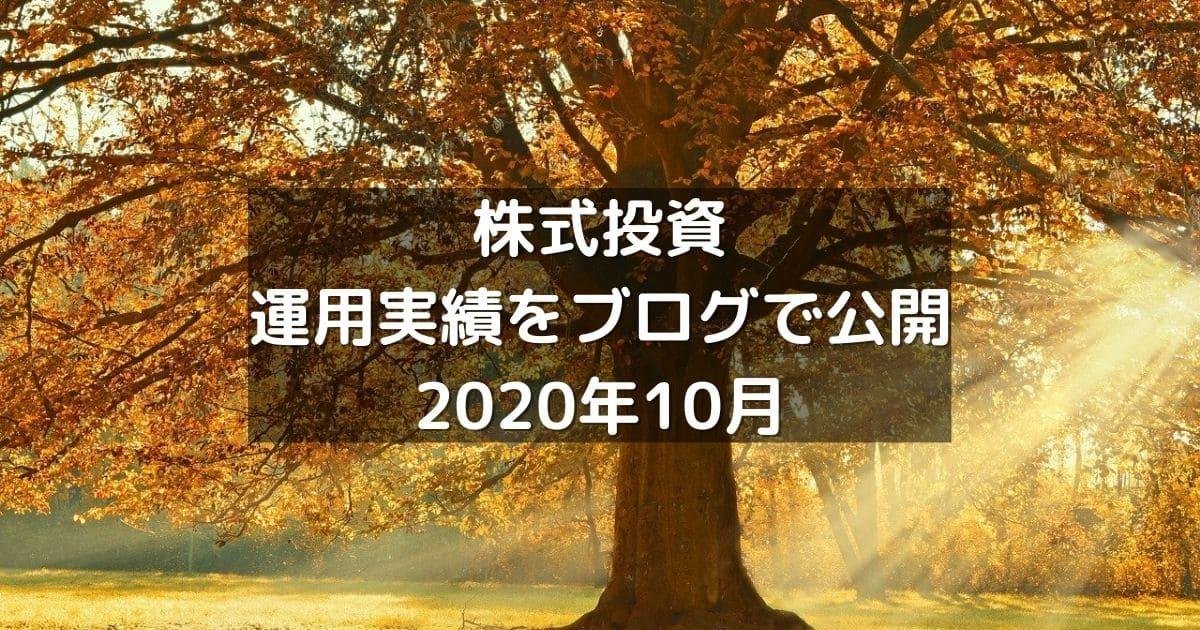 株式投資の運用実績をブログで公開2020年10月