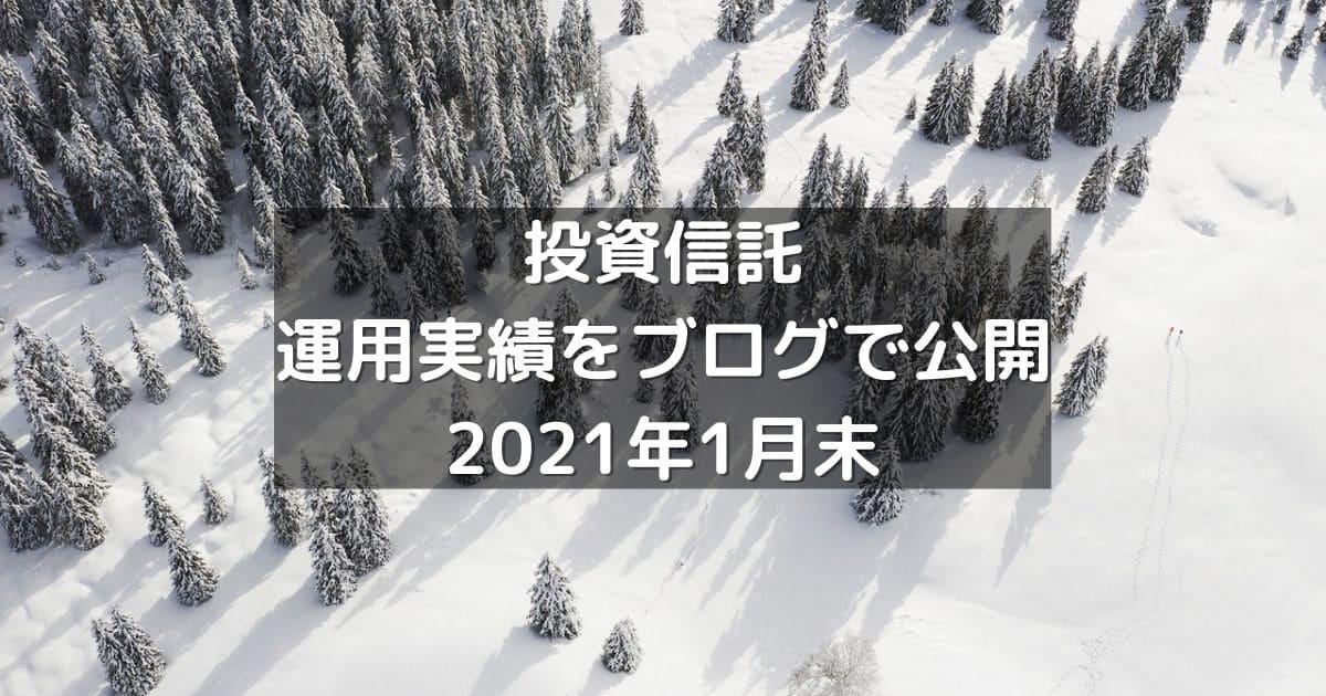 投資信託の運用実績をブログで公開2021年1月末