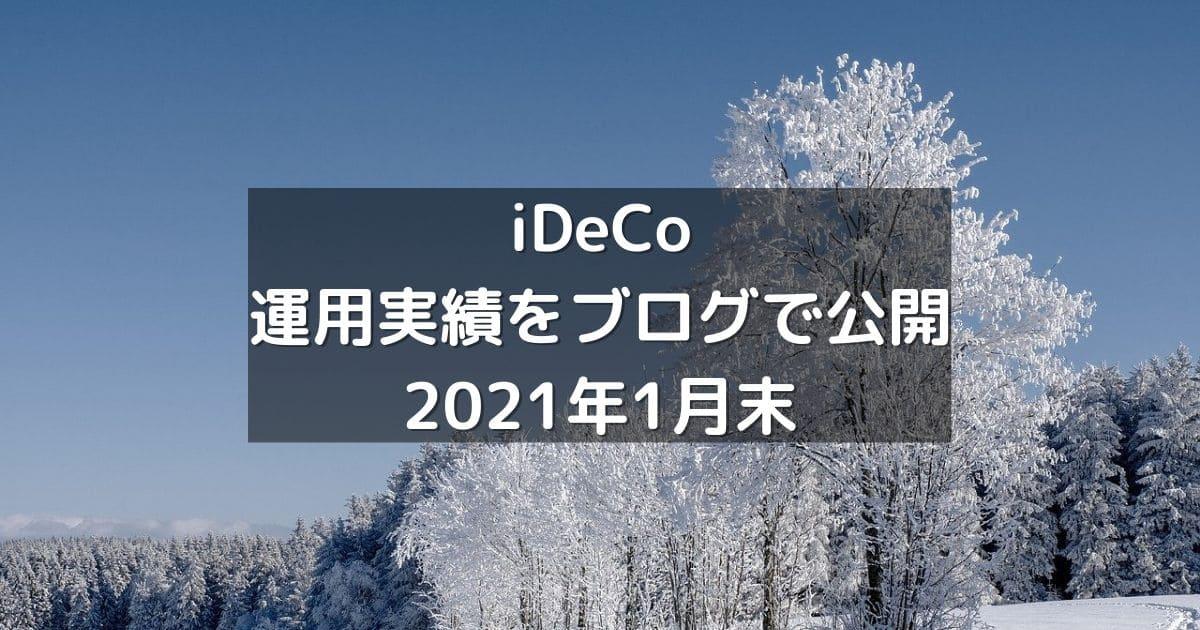 iDeCoの運用実績をブログで公開2021年1月末